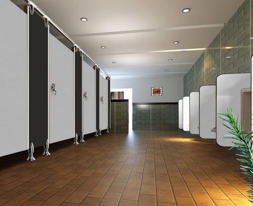 vách ngăn toilet cho nhà hàng
