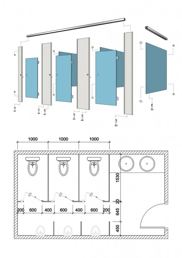 Bản vẽ vách ngăn nhà vệ sinh là gì?