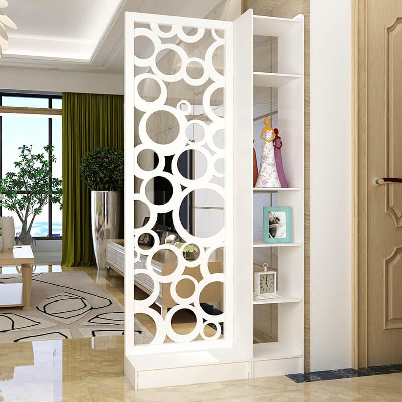 Vách ngăn di động bằng nhựa dùng để trang trí phòng khách