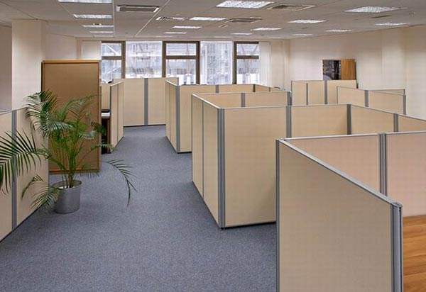 Vách ngăn tạo không gian riêng tư cho nhân viên làm việc