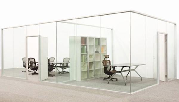Vách ngăn văn phòng nhôm kính giúp tiết kiệm tối đa không gian
